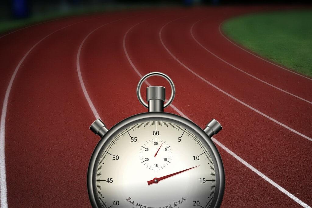 Pista de atletismo para corrida intervalada