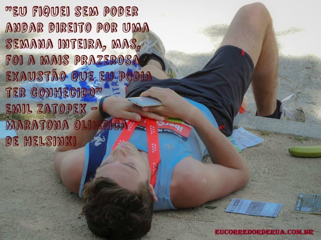 frase maratonista olimpico Emil Zatopek