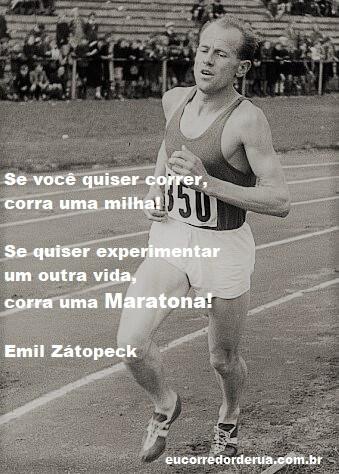 frase correr maratona Emil Zatopeck